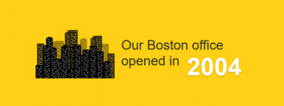 Our Boston office opened in 2004