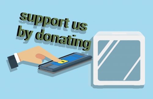 support us by donating image