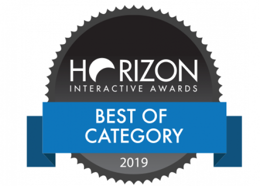 Horizon Interactive Awards Best of Category 2019 badge