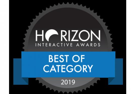 Horizon Interactive Awards Best of Category 2019 badge